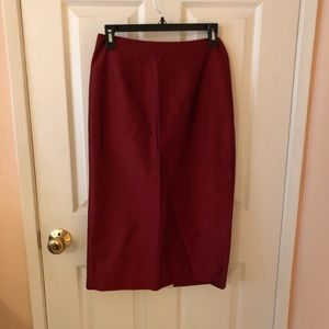 Dresses & Skirts - AnnTaylor Loft Red Pencil Skirt